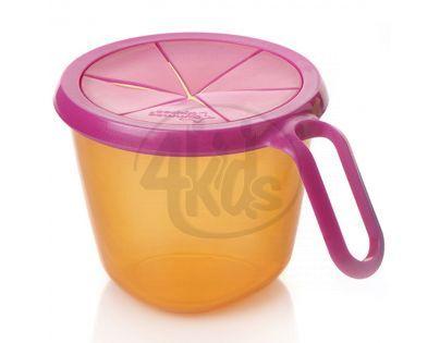 Tommee Tippee Explora Cestovní miska na svačinu - Oranžovo-růžová
