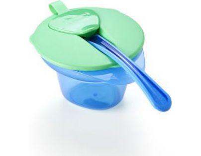 Tommee Tippee Explora Miska s víčkem a lžičkou - Zeleno-modrá