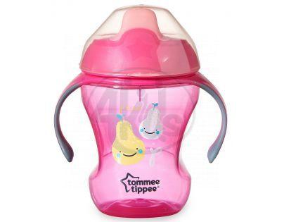 Tommee Tippee Explora Netekoucí hrnek Easy Drink Cup 230ml - Růžová