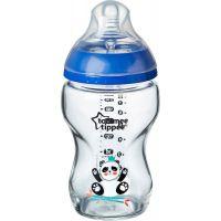Tommee Tippee Dojčenská fľaša C2N 250ml sklenená potlač Blue