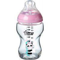 Tommee Tippee Kojenecká láhev C2N 250 ml skleněná potisk Pink