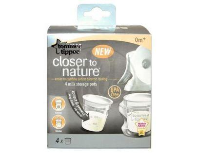 Tommee Tippee 423010TT - Nádobky na skladování mat. mléka C2N, 4ks 0+m