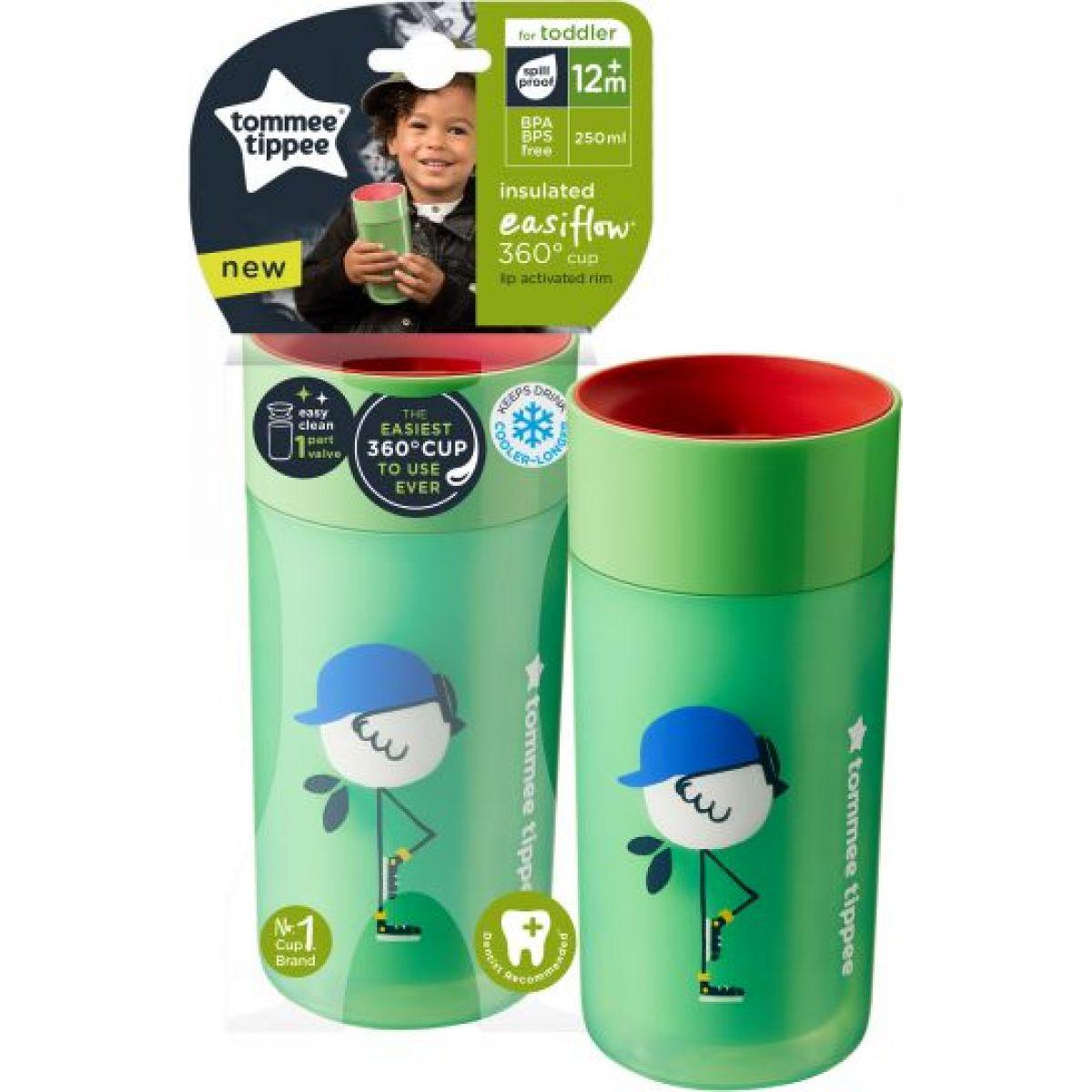 Tommee Tippee Netekoucí termohrnek Easiflow 250 ml Zelený