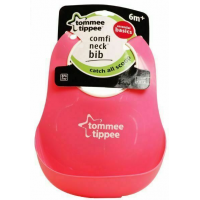 Tommee Tippee plastový podbradník Basic - růžová 2
