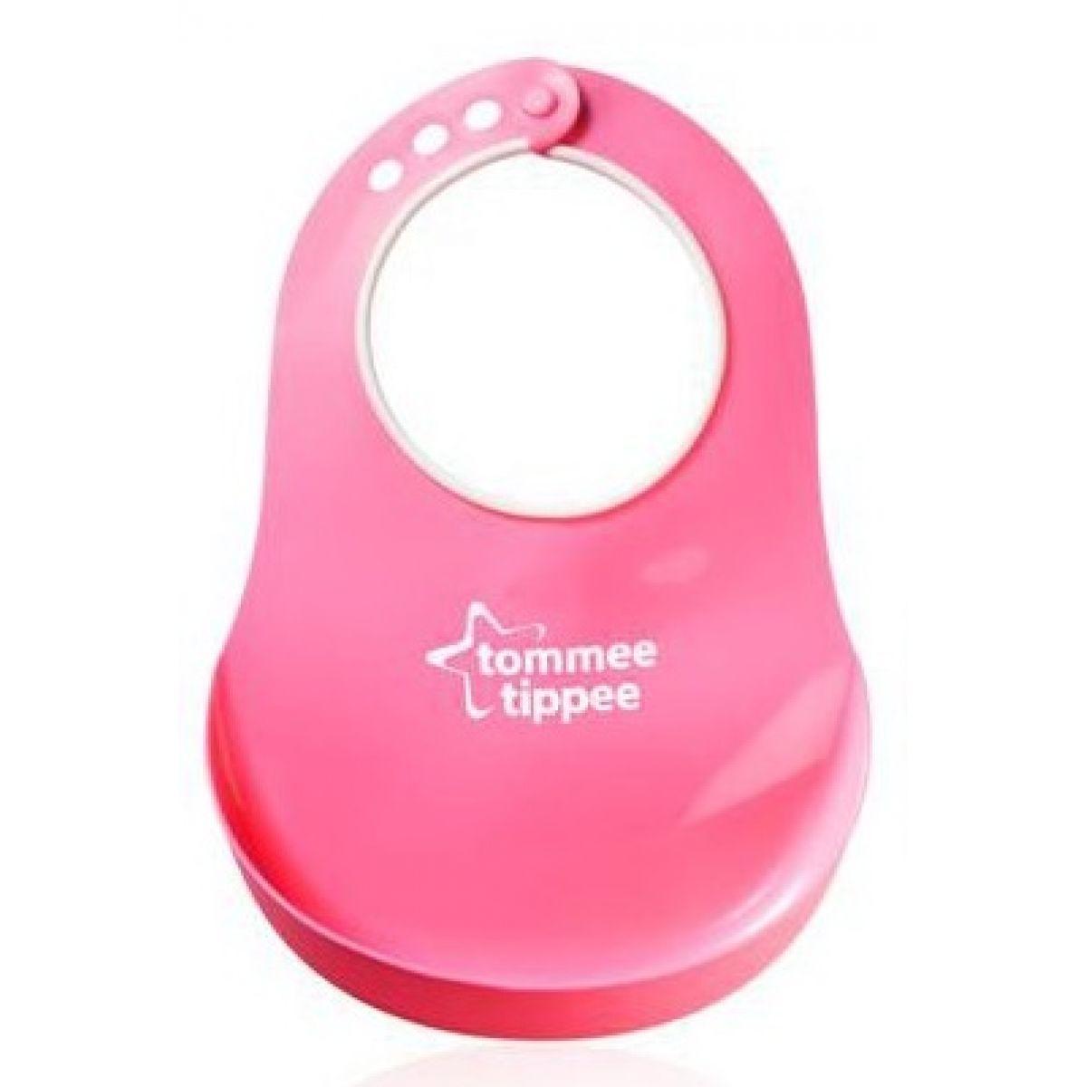 Tommee Tippee Plastový bryndák Basic - Růžová