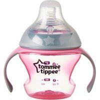 Tommee Tippee Přechodový hrnek se savičkou a pítkem 150ml 4m+ růžový
