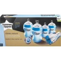 Tommee Tippee Sada kojeneckých lahviček C2N s kartáčem modrá 4