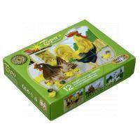 TOPA 30203 - Kostky dřevěné Domácí zvířátka 12 ks