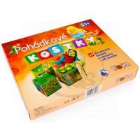 TOPA 70442 - Dřevěné obrázkové kostky 20 ks - Pohádky