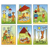 TOPA 30206 - Kostky dřevěné Pejsek a kočička 12 ks 3