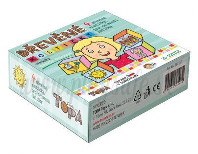 TOPA 38107 - Kostky kubus Obrázky dřevo 4ks