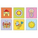 TOPA 38107 - Kostky kubus Obrázky dřevo 4ks 4