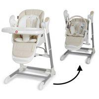 Topmark Xavi jídelní židle a houpačka 2 v 1 béžová - Poškozený obal