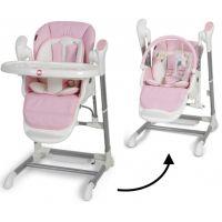 Topmark Xavi jídelní židle a houpačka 2 v 1 růžová