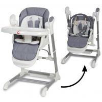Topmark Xavi jídelní židle a houpačka 2 v 1 šedá