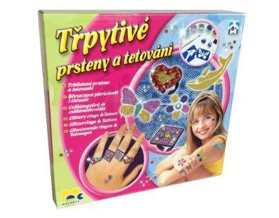 Mac Toys  M4502438 - Třpytivé prsteny a tetování