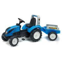 Traktor Landini šlapací s volantem a valníkem
