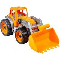 Traktor s přední lžící oranžový