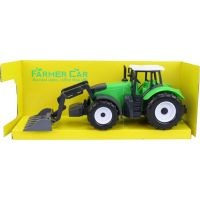 Made Traktor s pracovním nástrojem na setrvačník zelený