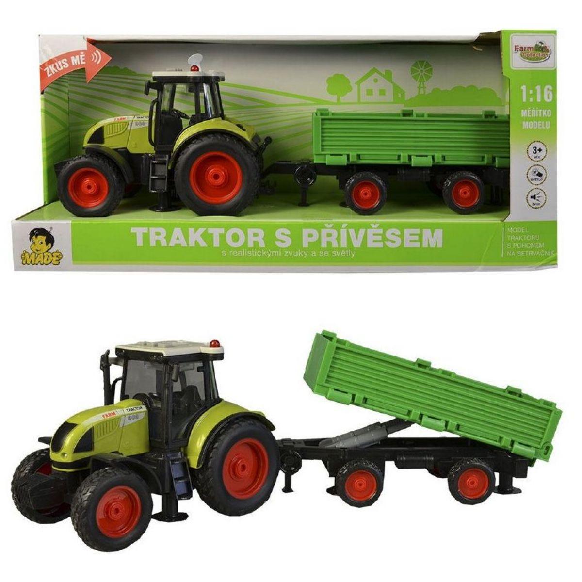 MaDe Traktor s vlečkou na setrvačník