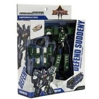 Transformer polícia 17 cm zelený 3