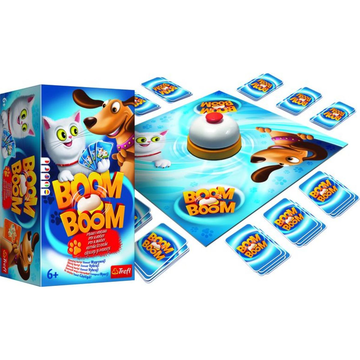 Trefl Boom Boom Psy a mačky spoločenská hra