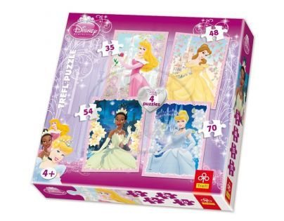 Trefl Disney Princess Puzzle 4v1