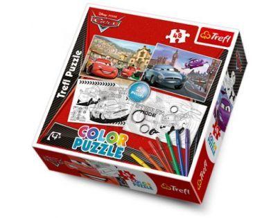 Puzzle color Cars 2x48d