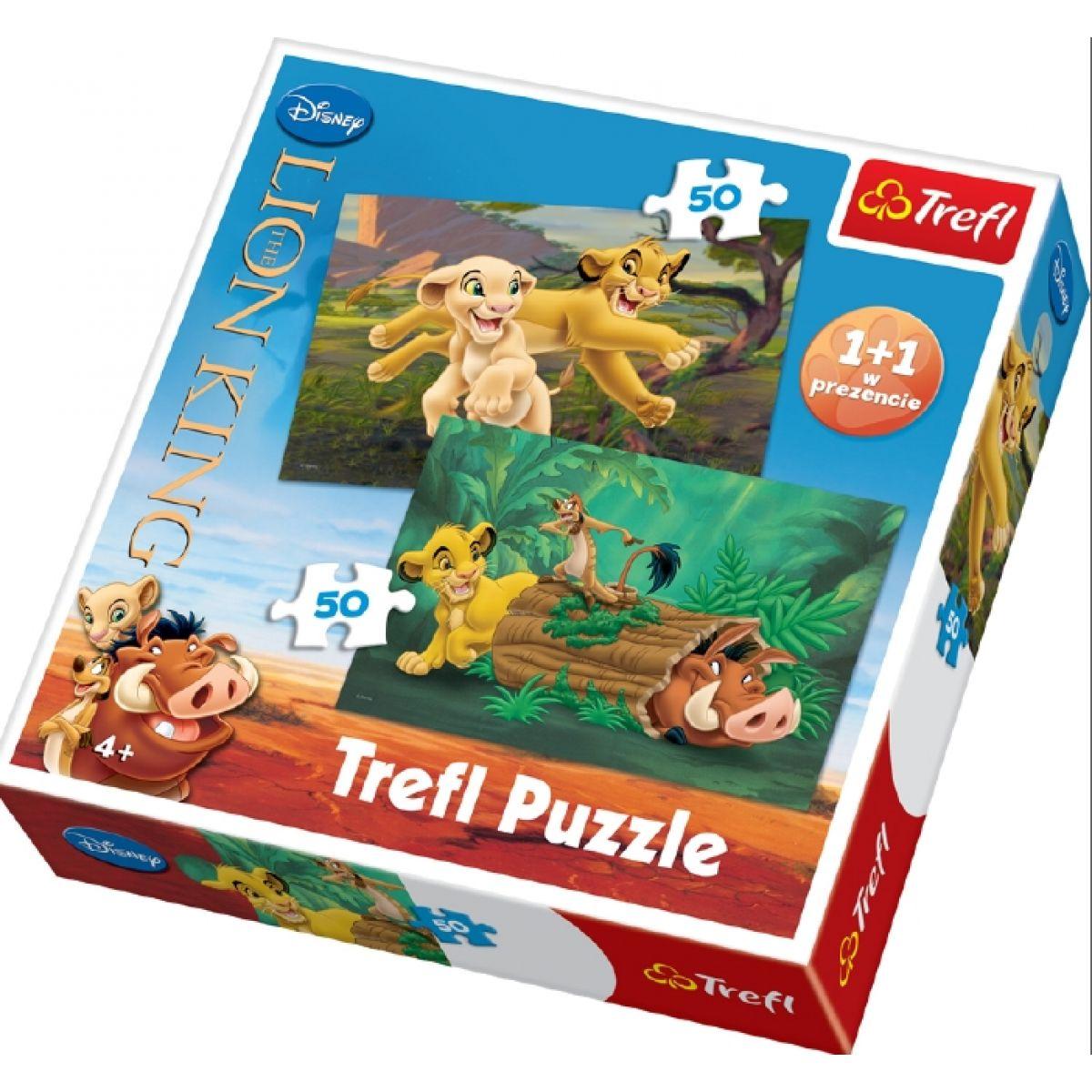 Puzzle Lví král 2x50d