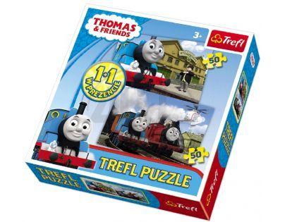 Trefl Puzzle Mašinka Tomáš 2 x 50 dílků