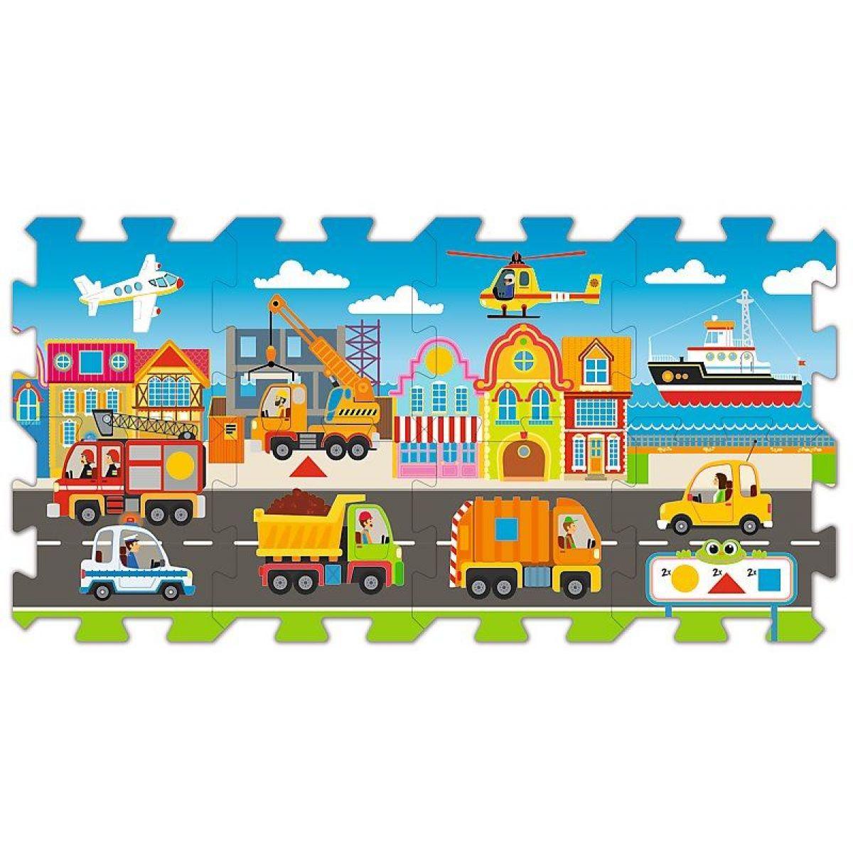 Trefl puzzle vzdělávací 60754 Cars dopravní a pracovní prostředky 8 ks