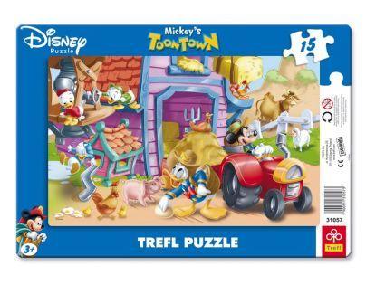 Trefl Disney Puzzle s rámečkem Na farmě 15 dílků