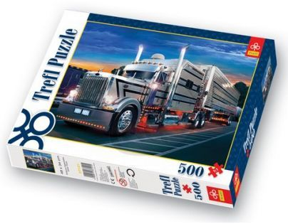 Trefl Puzzle Stříbrný kamion 500 dílků