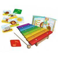 Trefl Safari Bim! Bam! Hudebně pohybová hra 10 v 1 s velký dřevěný xylofonem 2