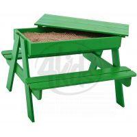 Trigano Dřevěný stoleček s lavicemi a úložným prostorem