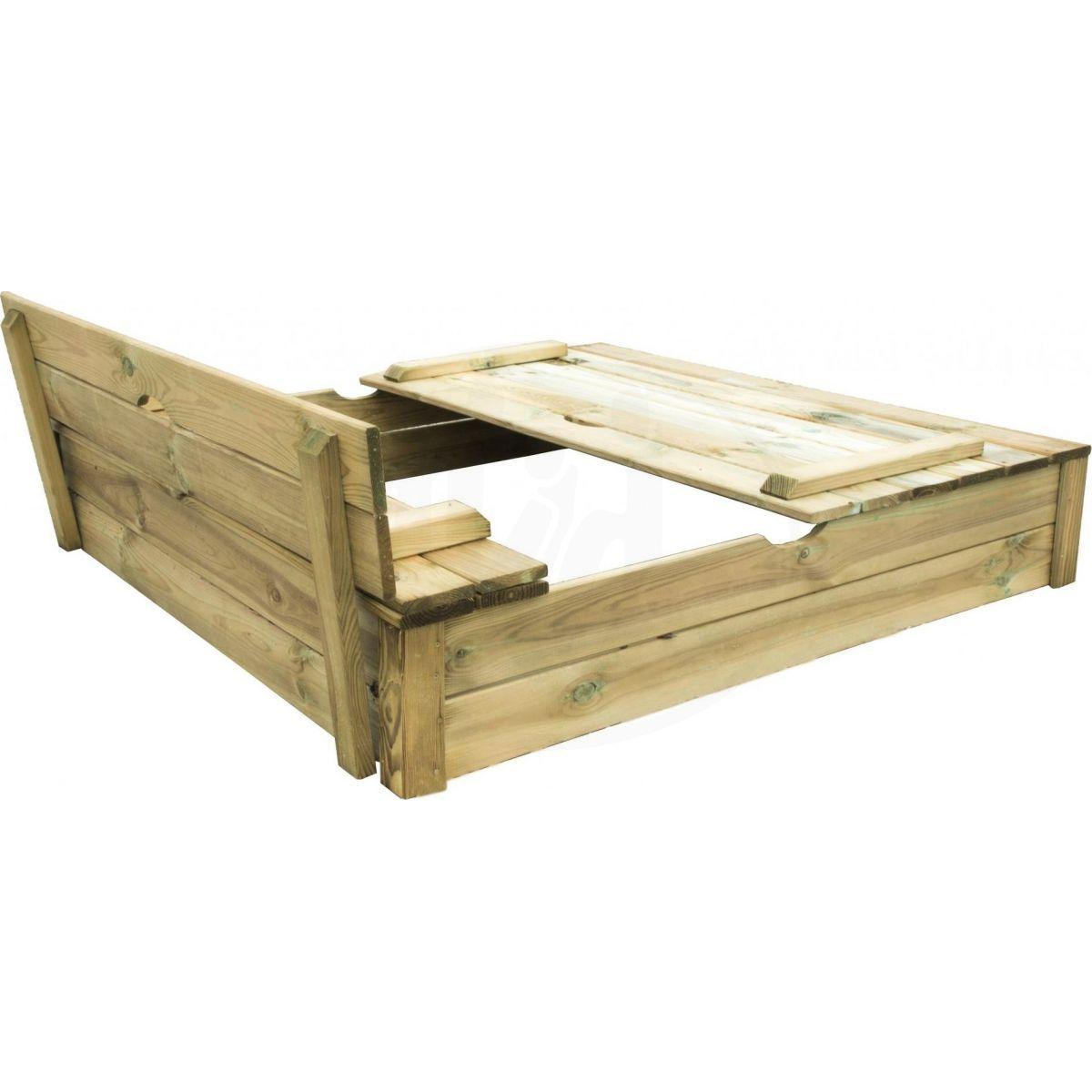 Trigano Dřevěné pískoviště Sandy se skládacími lavicemi