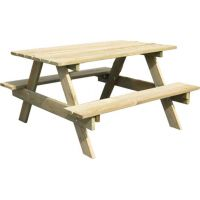 Trigano dřevěný stoleček s lavicemi Piknik