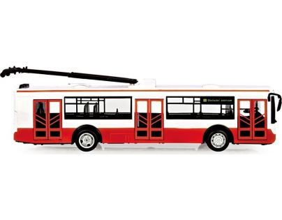 Rappa Trolejbus hlásící zastávky v češtině s funkčními dveřmi 28 cm