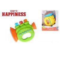 Mikro Trumpeta na baterie se zvukem a světlem Babys Happiness