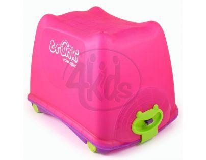 Box na hračky 4v1 Trunki růžový