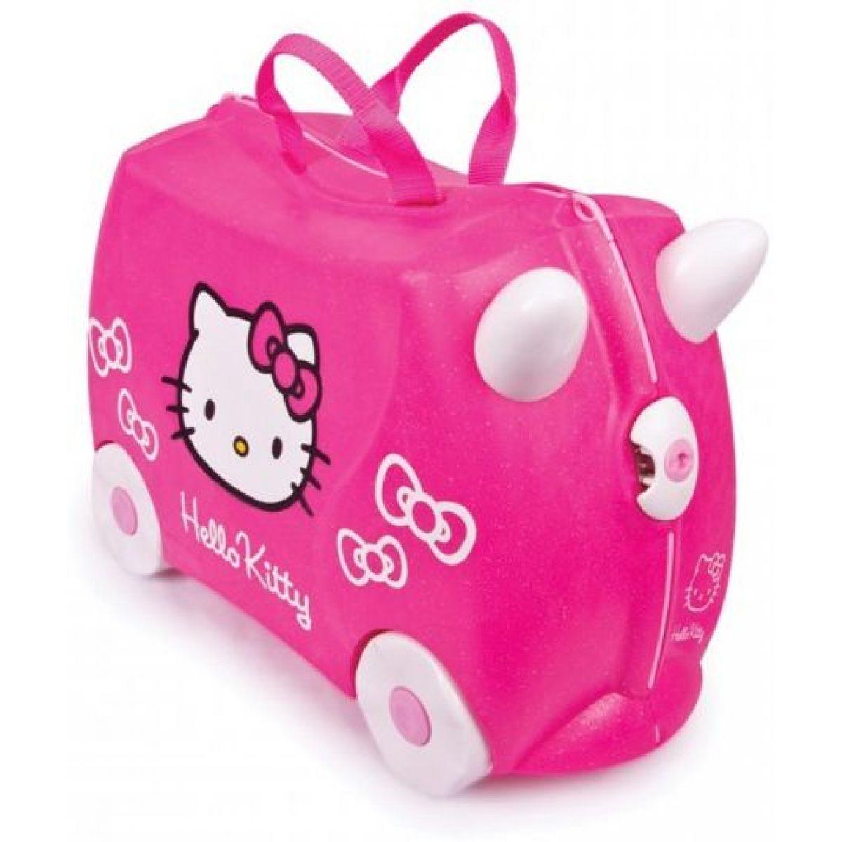 Trunki 0131TR - Trunki Kufřík + odrážedlo Hello Kitty (2 v 1)