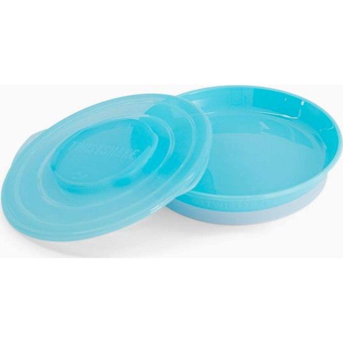 Twistshake Talíř pastelově modrý