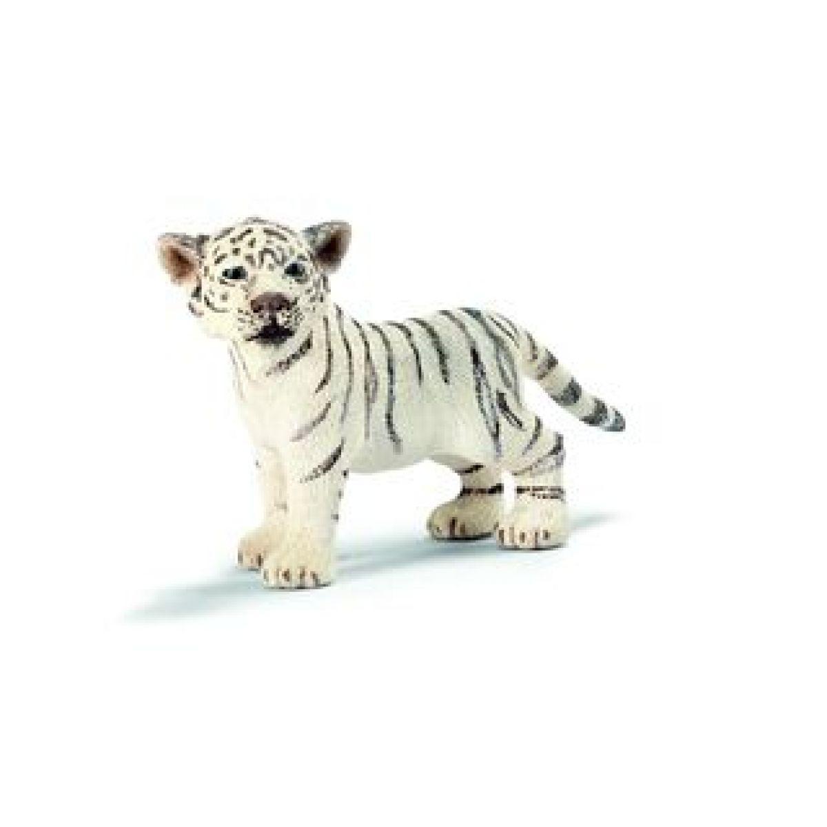 Schleich 14384 - Zvířátko - mládě bílého tygra stojící