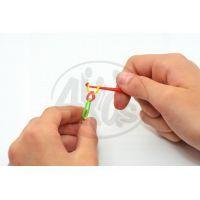 Udělej si svůj náramek 300ks gumiček - Třpytivé 6