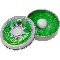 Ultra Plastelína 50 g s LED světlem 6 barev Svítí ve tmě jako Galaxie zelený nápis
