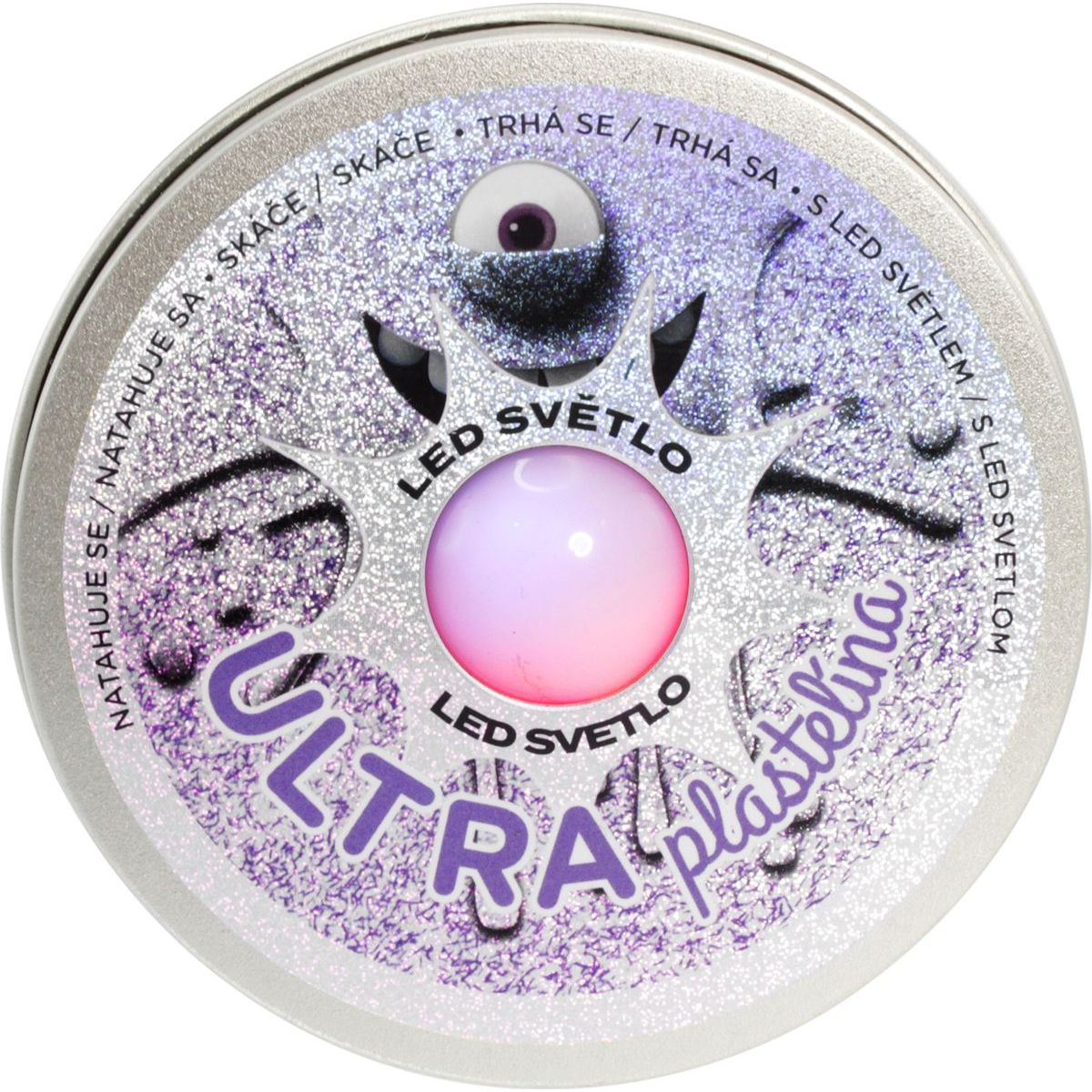 EP Line Ultra Plastelína 50 g s LED světlem fialová