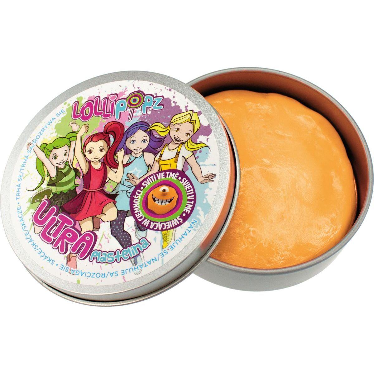 Ultra Plastelína Lollipopz Svítící ve tmě 50 g oranžová