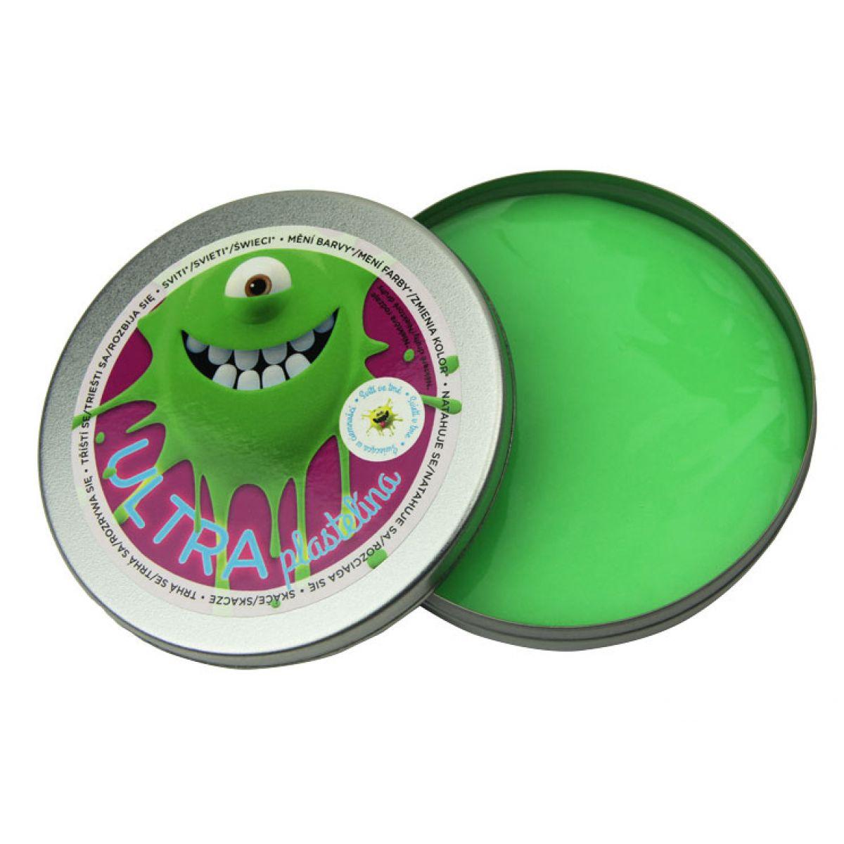 EP Line Ultra Plastelína Svítící 80 g - Zelená