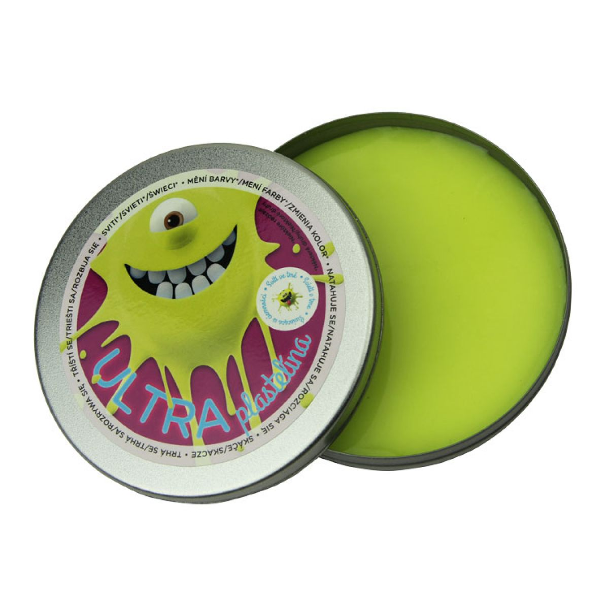 EP Line Ultra Plastelína Svítící 80 g - Žlutá