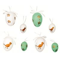 Anděl Vajíčka plastová na zavěšení velká 6 cm a malá 4 cm v sáčku